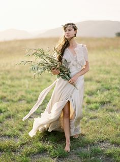 Greek Goddess Shoot by Jose Villa Dress by Samuelle Couture #Luxury #Wedding #Inspiration