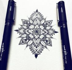 For Body Tattoo Designs Enthusiasts Absolutely No Area is Off Limits. Sleeve Tattoo Designs and Lower Back Tattoo Designs for women are. Neue Tattoos, Music Tattoos, Body Art Tattoos, Tattoo Drawings, Sleeve Tattoos, Tattoo Sketches, Tatoos, Mandala Tattoo Design, Dotwork Tattoo Mandala