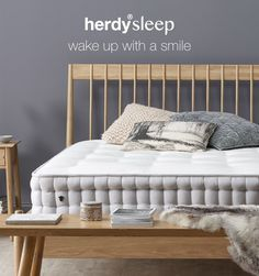 We're HYPED and delighted to introduce to ewe all herdysleep: the natural way to sleep and wake up with a smile! Click the image to read all about it! Ways To Sleep, Wake Up, Mattress, Product Launch, Smile, Bed, Natural, Furniture, Home Decor
