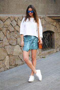 what-do-i-wear:  Skirt/Falda:HM, Bag/Bolso:Uterque, Jumper/Jersey:Zara(Similar), Sunglasses/Gafas:Spektre, Rings/Anillos:COSandHM, Creepers/Zapatos:Zara(Similar),Bracelet/Pulsera:Sofie Valkiers For Diamanti Per Tutti(image:fashionvibe)