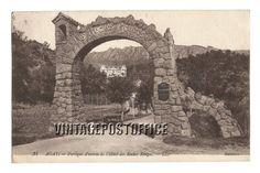 Agay vintage postcard Portique d'entrée de door vintagepostoffice