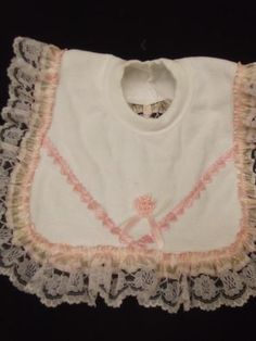 Dream 6 18 Months Baby Romany Pink Hearts Frilly Bib Burp Cloth | eBay