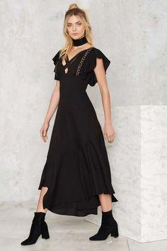 Nasty Gal Eliza Studded Maxi Dress - Clothes | Party Shop | Midi + Maxi