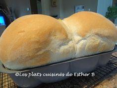 Les plats cuisinés de Esther B: Pain blanc Amish
