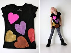 Metallic Hearts Shirt [made]