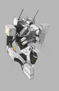 -- Share via Artstation iOS App, Artstation © 2015 Robot Sketch, Rendering Art, Cool Robots, Mechanical Art, Robot Concept Art, Pretty Drawings, Concept Ships, Robot Design, Cg Art