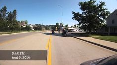 Riding into downtown Sturgis 2014