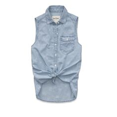 Girls Savannah Floral Print Denim Shirt:Medium Wash Floral Denim   Abercrombie Kids. Size Extra Large $19.99