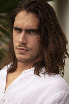 Medium Long Haircuts, Best Long Haircuts, Hereford, Hot Guys Tattoos, Medium Hair Styles, Long Hair Styles, Great Hairstyles, Male Long Hairstyles, Portrait Poses