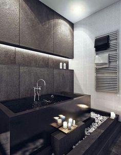 Belle salle de bain avec une ambiance d'intimité