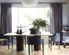 Georgia Tapert Howe created this sleek dining room.