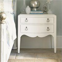 Tommy Bahama Home Ivory Key Martello Night Table in White