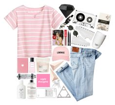"""""""whenever it rains, i feel so free"""" by california-love-and-life ❤ liked on Polyvore featuring AG Adriano Goldschmied, MM6 Maison Margiela, Alexis Bittar, Davines, Lime Crime, NARS Cosmetics, Marc Jacobs, Ray-Ban, Fresh and philosophy"""