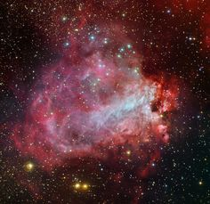 Star Factory Messier 17 --- Oct. 22 --- Image Credit & Copyright: Data - ESO / MPIA / OAC, Assembly - R.Colombari