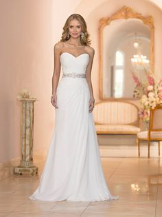Formal Modern Romantic Ivory White $$$ - $1501 to $3000 A-line Beading Fall Floor Natural Ruching Sash/Belt Sheath Sleeveless Stella York Strapless Sweetheart Winter Wedding Dresses Photos & Pictures - WeddingWire.com