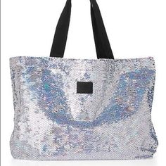 Selling this SOLD NWT Victoria's Secret PINK BLING Tote Bag on Poshmark! My username is: cmccullough9. #shopmycloset #poshmark #fashion #shopping #style #forsale #PINK Victoria's Secret #Handbags