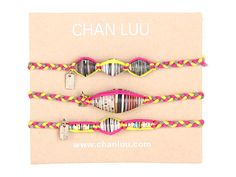 Chan Luu 3 Pack Paper Friendship Beads Neon Fuchsia Mix - Zappos.com Free Shipping BOTH Ways