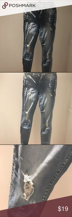 Jessica Simpson Light wash Distressed Jeans Like new, only worn a few times ...(The more you buy, the more I lower my prices so bundle & save!!) Jessica Simpson Jeans