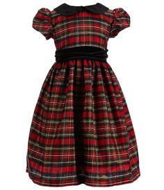 Jayne Copeland Little Girls 2T6X PeterPan Collar Holiday Plaid Dress #Dillards