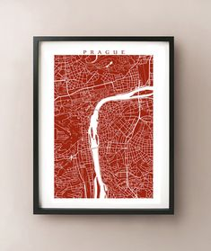 love these! and so many color choices - its too hard to decide!  Prague Map Print  Czech Republic Wall Art by CartoCreative on Etsy, $20.00