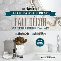 Join Style at Home's live Twitter chat all about Fall Decor! Click the image to learn more!