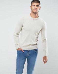 BOSS Orange by Hugo Boss Amidro Knitted Sweater in Cream - Cream