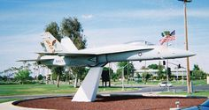 NAS Lemoore  I remember seeing this jet as well as a couple of others on our way to the commissary, movie theater & exchange back when I was a kid