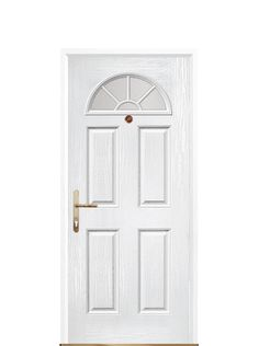 white front doors2 Panel Sunburst White Composite Front Door  UK Composite Front