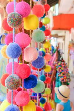 Sayulita Pompoms, I can't get enough of these colors!