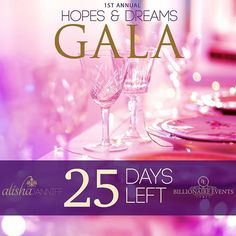 THE COUNTDOWN BEGINS!!! 25 days till the most anticipated gala of the year! The Hopes and Dreams Gala present to you by @alishajanniff and @billionairevnts! Proceeds to the @diabetescanada Come celebrate in style, with an evening full of glitz, glamour, entertainment  and much more. Come out and support a great cause.  Make sure to follow us on IG @hopesanddreams_gala and Facebook: Hopesanddreamsgala  TICKETS NOW AVAILABLE! $60 general tickets include entry for chance to win legendary…