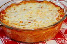 Spaghetti Pie with finely chopped veggies hidden inside