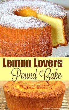 Lemon Lovers Pound Cake - Easy Crafts for All Lemon Desserts, Lemon Recipes, Just Desserts, Delicious Desserts, Dessert Recipes, Southern Desserts, Iced Lemon Pound Cake, Sour Cream Pound Cake, Lemon Cream Cheese Pound Cake Recipe