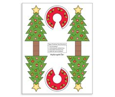 Download this Printable 3D Christmas Trees and other free printables from MyScrapNook.com