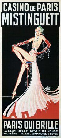 vintage everyday: 20 Beautiful Vintage Posters of Sexy Parisian Cabaret Dancer M. - vintage everyday: 20 Beautiful Vintage Posters of Sexy Parisian Cabaret Dancer Mistinguett from the - Vintage French Posters, Vintage Travel Posters, French Vintage, Old Posters, Art Deco Posters, Paris Kunst, Folies Bergeres, Vintage Burlesque, Cabaret Vintage