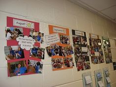 Photo timeline of the school year  {start this at the beginning}