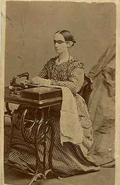 Laura Bridgman sewing.  (December 21, 1829 – May 24, 1889) is known as the first deaf-blind American child to gain a significant education in the English language.