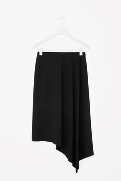 COS image 4 of Asymmetric jersey skirt in Black