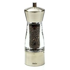 Pepper Grinder BlizeTec NO MESS Salt or Pepper Mill with Adjustable Grind Set Base 1 Pc ** Read more reviews of the product by visiting the link on the image-affiliate link.