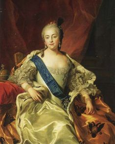 """""""Portrait of Empress Elizabeth Petrovna (1709–1762)."""" (Charles-André van Loo, 1760, oil on canvas). In the collection of the State Peterhof Museum, St. Petersburg. Daughter of Peter the Great, among Prussian King Frederick II's most deadly enemies. Absent her sudden death (the """"miracle of the House of Brandenburg"""") allies Austria and Russia would have destroyed Prussia (for which the late Seven Years War eerily resembled the German situation of 1945). But Elizabeth died, and Russia left the…"""