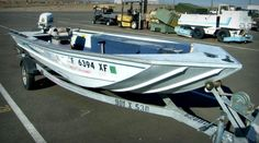 This boat is an OMC, Aluminum Boat Group, Small Craft Boat on Government Liquidation.