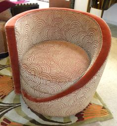 Tub chair - Early Art Deco fabric pattern. art deco furniture images - Bing Images