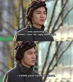 Boys Over Flowers.the funniest hairstyle ever.but loved the drama and love Lee Min Ho. Korean Drama Funny, Korean Drama Quotes, Meteor Garden, Koo Hye Sun, Boys Before Flowers, Lee Min Ho Boys Over Flowers, I Call Your Name, Drama Fever, Drama Drama