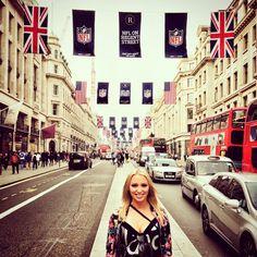 NFL on Regent Street... #London #RegentStreet #NFL #football #NFLUK Back home in the morning - @annimarikk