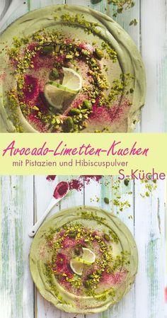 Rezept für einen ganz fixen, sehr erfrischenden No-Bake Avocado Limetten Cheesecake aus dem Kühlschrank