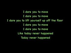 I Dare You To Move -Switchfoot Lyrics On Screen