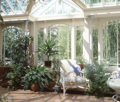 Edwardian Period Conservatory, via Vale Garden Houses, UK Edwardian Conservatory, Conservatory Interiors, Conservatory Plants, Outdoor Spaces, Indoor Outdoor, Outdoor Decor, Room With Plants, Winter Garden, Planting Flowers