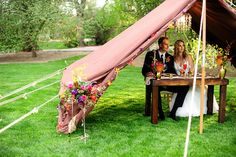 Styled Shoot: Colorful Glamping Wedding