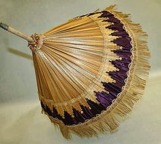 parasol 1840 | Straw & Silk Parasol