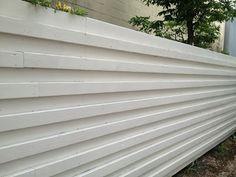 Wood Mid-Century Modern Fence