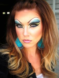 I want to start dressing like a Drag Queen.     Halloween Look (Part 2) http://www.makeupbee.com/look_Drag-Queen-Halloween-Look-Part-2_9701